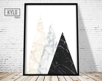 Geometric Print, Abstract Print, Marble Print, Scandinavian Wall Art, Home Decor, Minimalist, Modern Print, Geometric Art, Home Wall Art