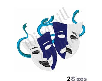 Theater Drama Masks - Machine Embroidery Design