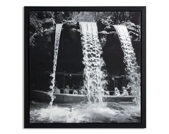 "Fine Art Photography ""Schweitzer Falls"" Framed Stretched Canvas"