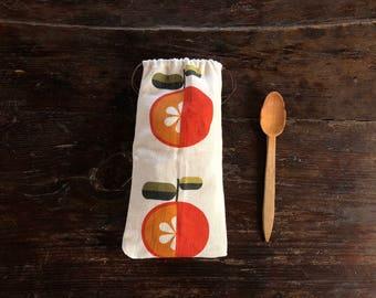 Eco bag-reusable bag for fruit-design mandarins-eco bag