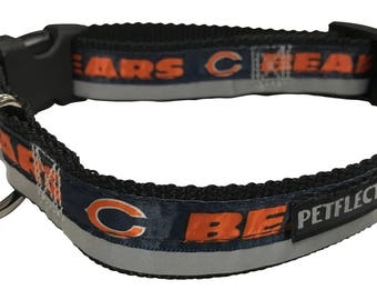 Chicago Bears Reflective Dog Collar