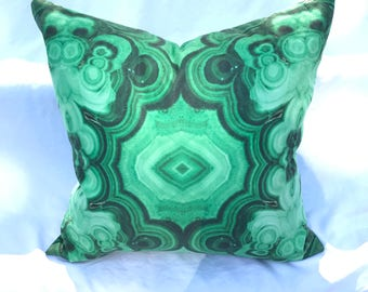 Malachite Print Pillow