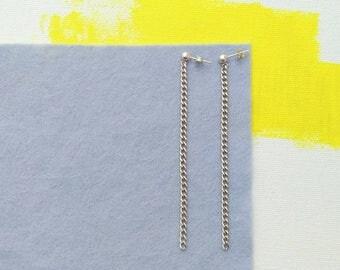 Long Earrings, Elegant Earrings in sterling silver