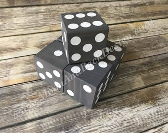 Custom Wooden Dice for Yard Games