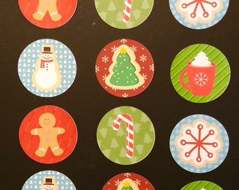 Customized Precut Christmas Cookie  Toppers- available for cakes, cookies and cupcakes