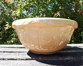 Large Vintage Mason Cash Size 18 Yellow Ware Cane