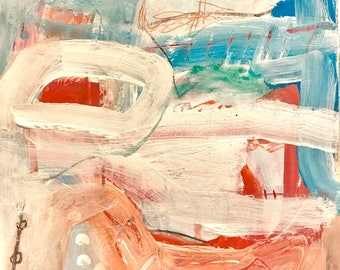 Original Abstract Painting on paper, wall decor, interior design, modern