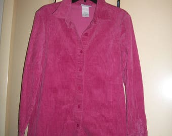 Vintage 90's Pink Corduroy Shirt, Jacket, Size M