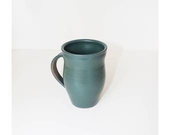 ceramic mug, turquoise mug, coffee mug, handmade ceramic mug,