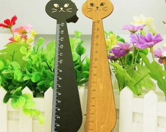 Ruler/2 cats in wooden ruler colors listed here