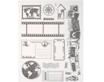 Clear stamps, stamps transparent 15 piece set