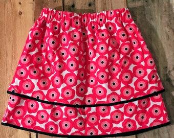 Pink Flower Skirt Size 4T