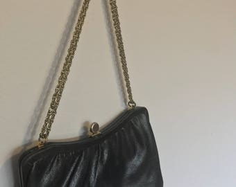 Black chain handle purse