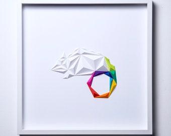 CHAMELEON   Hadmade Paper ArtWork