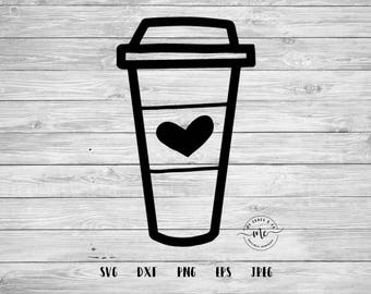Coffee To Go Cup, Coffee Drawing, Funny Svgs, Hand Drawn, Cricut, Silhouette, Cut Files, svg, dxf, png, eps, jpeg
