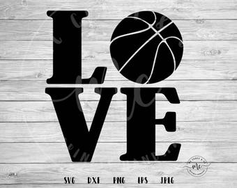 basketballl love svg, love svg, basketball SVG, basketball Mom, Sports SVG, Baller SVG, Cricut, Silhouette, Cut Files, dxf, png, eps, jpeg