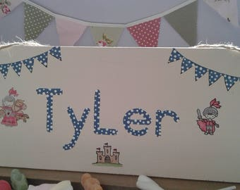Personalised children's wooden sign. Uk seller. Handcrafted