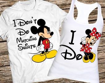 I dont do matching tanks, I don't do matching tanks, Mickey and Minnie couple tanks, Minnie and Mickey tank tops, Disney couple tank tops