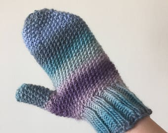 Hand Knit Super Soft Wool Mittens