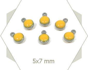 10 mini yellow enameled lever AC63