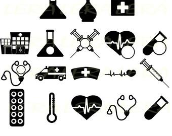 60 % OFF, Hospital svg, Doctor svg, Hospital Monogram svg, Hospital silhouettes, Hospital svg files Svg, Dxf, Png, Hospital clipart