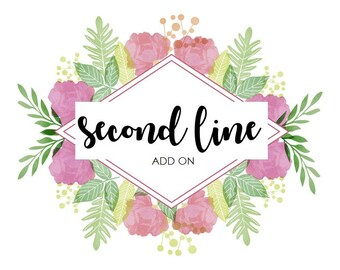 Second Line ADD ON for Personalized Wire Hanger - Make It With Two Lines Instead of One  - Wedding, Engagement, Bridal & Baby Shower GIFT