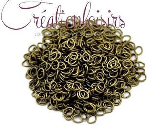 Oval jump rings open color 100 bronze 6 x 4 mm