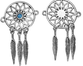 2 pendants Dreamcatcher dream catcher 3 feathers