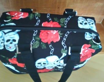 skulls handbag goth style shoulder bag
