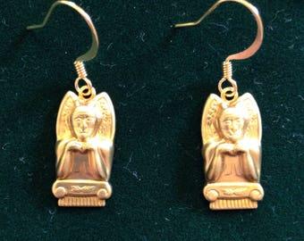 The Golden Gargoyle Dangle Earrings