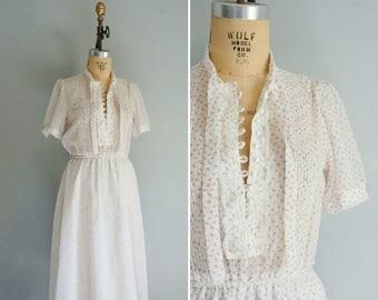 1950s Garden Tea cotton dress | vintage cotton dress | floral dress