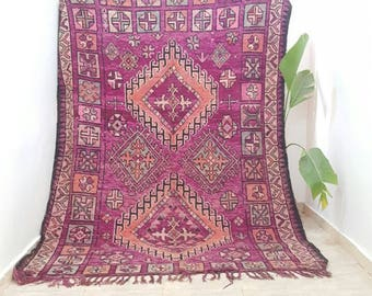 2.60/1.90 m 102,3x74,8 inches morrocan rugs boujaad vintage