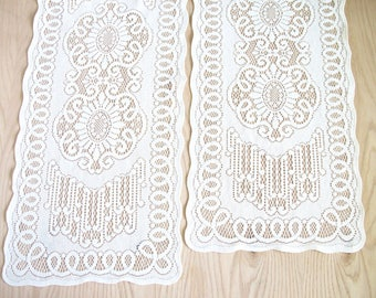 Pair of Vintage Lace Table Runners