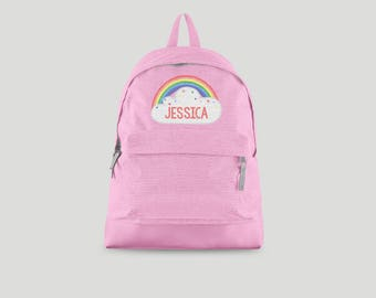 Personalised Backpack with ANY NAME Rainbow Magical - Kids Children Teenagers School rucksack - Back To School Bag Backpack -CBPRAI