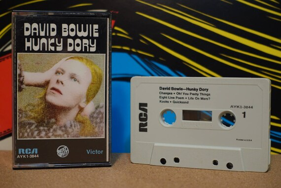 Hunky Dory by David Bowie Vintage Cassette Tape