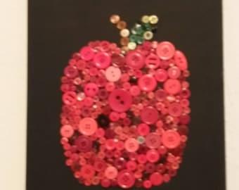 Button Apple Canvas