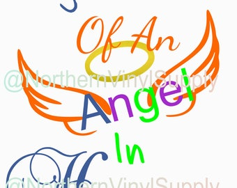 Rainbow Baby - Rainbow SVG - Big Brother of An Angel In Heaven - SVG Cut File - Baby Cutting File - SVG Cutting File - Rainbow Baby