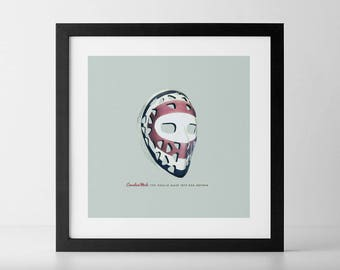 Goalie Mask Art Print: Ken Dryden Edition