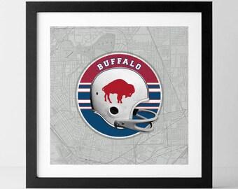 Vintage NFL: Buffalo Bills-inspired
