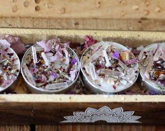 Tea lights/ insence burner/insence/dried flowers