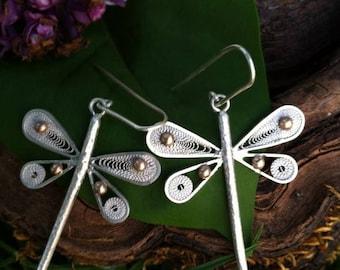 """Earrings """"Spring dragonflies"""""""