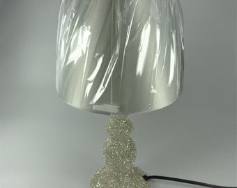 Table lamp decorated with luxury German glass glitter