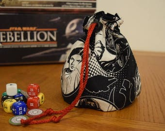 SALE - Star Wars Inspired Characters Dice Bag