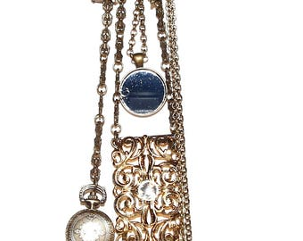 Vintage inspired gold Chatelaine