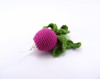 Crochet radish, crochet vegetables, play food, pretend play, kitchen decoration, eco friendly, toy for toddlers