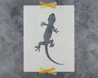 Gecko Stencil - Reusable DIY Craft Stencils of a Gecko Lizard