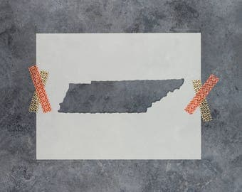 Tennessee State Stencil - Hand Drawn Reusable Mylar Stencil Template