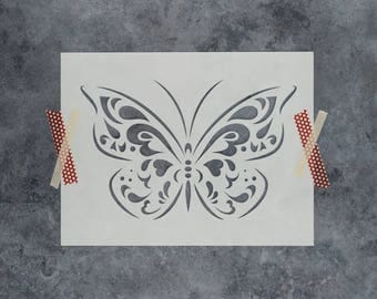 Butterfly Stencil - Reusable DIY Craft Stencils of a Butterfly