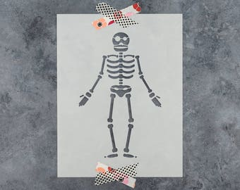 Skeleton Stencil - Reusable DIY Craft Stencils of a Skeleton Perfect for Halloween!