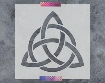 Celtic Triquetra Knot Stencil - Reusable DIY Craft Stencils of a Celtic Triquetra Knot
